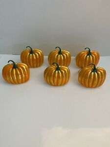 Holiday Thanksgiving Pumpkin Napkin Holder Rings 6