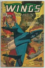 🔥WINGS COMICS #119**(1953, FICTION HOUSE)**AIRPLANE WAR COMIC**VG/GD GOLDEN AGE