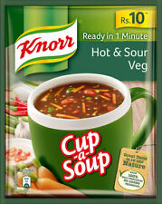 10 X Knorr Cup A Soup Hot & Sour Veg - 11 Gram Free Shipping