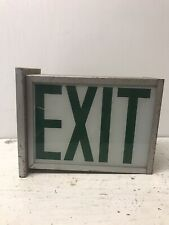 Vintage Green Exit Sign- Double Sided-