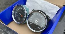 Original Jaguar XJ6 Series 1 Early 68-70 Speedometer & Rev Counter Chrome Dials
