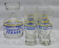 PERNOD ANISETTE 6 verres + carafe pot pichet à eau vintage NEUF