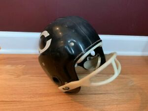 1960's Chicago Bears youth football helmet two bar facemask - shows mod. wear