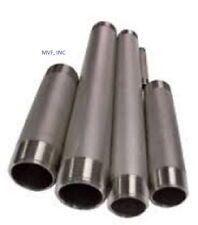 "1-1/4"" X 6""  Threaded NPT Pipe Nipple S/40 304 Stainless Steel  TBE <SN2071011"