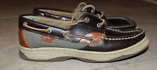 """Sperry Top-Sider """"Bluefish"""" Lc Boy Boat Shoes Brown Leather Size: 5.5"""