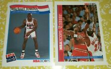 Michael Jordan Lot of 2, 1991-92 Hoops USA Basketball # 55, 1992-93 Hoops # TR1