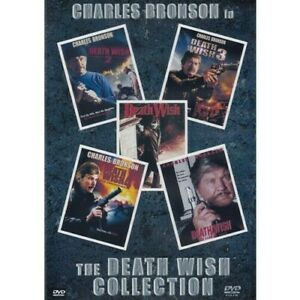 Charles Bronson Death Wish 1, 2, 3, 4, 5, - 5 Dvd Collection