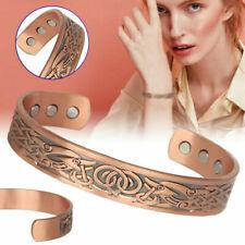 Mens Women Magnetic Therapy Bracelet Arthritis Pain Relief Pure Copper Bangle 1X