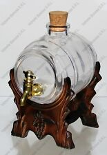 Bottiglia BOTTE 50 CL in vetro con TAPPO e RUBINETTO ORO FUNZIONANTE