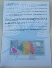Rumänien / Romania 2000 Lei 1999 Polymer p111b im Folder unz