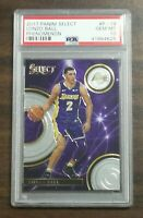 2017-18 Panini Select Phenomenon Lonzo Ball RC PSA 10 Los Angeles Lakers