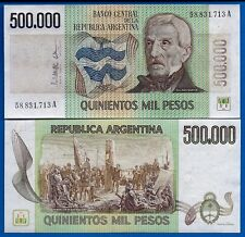 Argentina P-309 500,000 Pesos Year ND 1980-83 Uncirculated Banknote