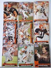 1991 Pro Set Series 1 Cleveland Browns Team Set 9 Football Cards