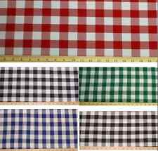 """Checkered Fabric 60"""" Wide Gingham Buffalo Check Tablecloth Fabric By Yard decor"""