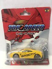 BAD CARD 1/64 Scale Top Speed Yellow Ferrari 360 Modena