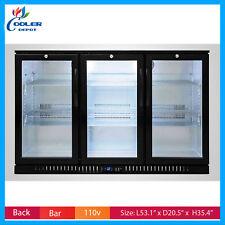 Back Bar Cooler Bb3 Glass Door Commercial Beer Bottle Case Refrigerator Nsf