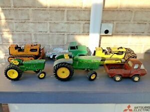 Vintage Bulk Lot of  6 x Farm and Industrial Metal Vehicles Tonka John Deere Toy