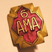 Ama 6 Year Vintage Lapel Pin American Motorcycle Association gift