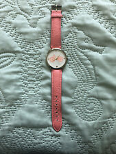 Francesca's Collections Peach Leather Bike Watch