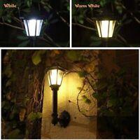 Solar Garden Light Hexagonal Lantern Wall Lamp Waterproof Outdoor Decor Art Home