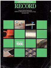 rivista - THE ARCHITECTURAL RECORD ANNO 1985 DICEMBRE