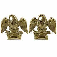 Vintage Baldwin Brass Eagle Bookends Commemorative Americana Colonial 1776-1976