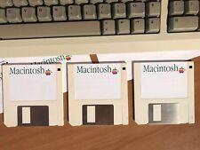 3 empty Floppy DD Macintosh Plus, 512K, 128K, SE Classic, SE30 + 16 empty Label