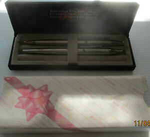 2 Ansett Airlines pens in presentation case with cardboard slip case cover