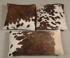 Natural Cowhide Pillow Cover Cushion Cowhide Hair ON Cover Set of 3 Cushion E143