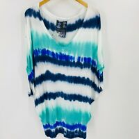 Young Fabulous & Broke Tie Dyed Top Size Small Women Oversized Multi Color