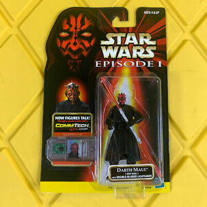 "Darth Maul Comm Tech 3.75"" Jedi Duel Episode 1 Star Wars Hasbro 1998 NEW"