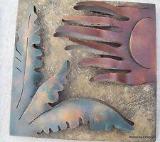 Cactus with Windy Sun Metal Wall Sculpture Indoor, Garden, Wellness Spa Cafe Art