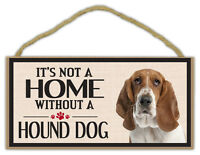 Wood Sign: It's Not A Home Without A HOUND DOG | Dogs, Gifts