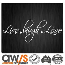 LIVE LAUGH LOVE STICKER DECAL TATTOO FOR GIRLS CAR WINDOW WALL CUTE GIRLY LOVE