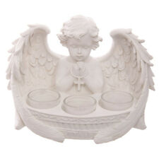 White Cherub 3 Tea Light Holder Tealight Candle Angel Wings Home Deco Gift CHE55