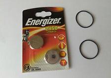 2 x ENERGIZER Battery & O-ring kits  Suunto Vyper,Vytec, Gekko, Zoop,HelO2 Dive