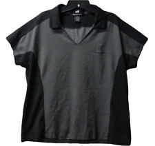 Mercedes Benz Womens Polo T-Shirt Xl Black Gray Euc