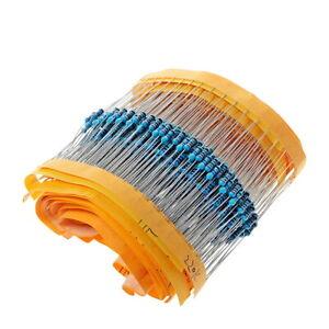 600pc Metal film resistor kit 0.25W 1% 20pcs of 30 different values
