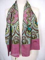 Oilily Schal NEU O-Rose in Altrosa Ornament Muster für Jacke Mantel Damen scarf