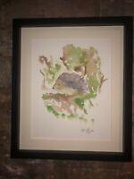 Hedgehog Foraging, Original Watercolour Painting, Original Art Not A Print
