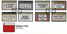 Gibraltar 2016 FDC Historic Streets 8v Set Cover Street Names Stamps