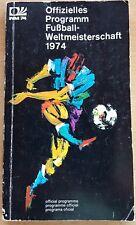 Offizielles PROGRAMMHEFT WM 1974 DFB Deutschland Fussball Weltmeisterschaft fan
