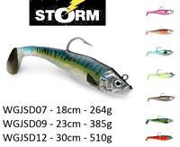 Storm WildEye Giant Jigging Shad 15cm -30cm / 135g - 510g / 2 Soft Bodies 1 Head