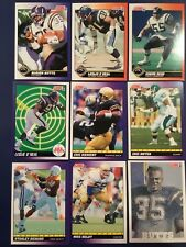 1991 Score SAN DIEGO CHARGERS Complete Team Set 24 SEAU-BUTTS-BIENIEMY RC Look !