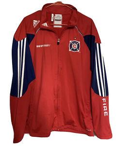 Chicago Fire Adidas Climalite Jacket Mens Size Large