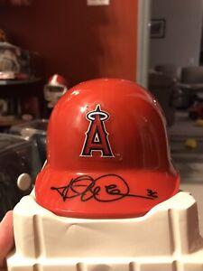 Jered Weaver Los Angeles Angels Signed Riddell Mini Helmet COA San Diego Padres