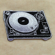 Record Player Music Embroidery Iron On Patch Badge