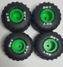 Spin Master Grave Digger RC Monster Jam BKT Wheel Tire Front and Rear Set of 4