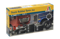 Italeri 3889 1/24 Scale Model Kit Truck Rubber Tires Tyres(8pcs)Man/Scania/Iveco