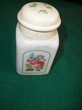 "Vntg Avon Country Garden Elusive Foaming Bath Oil"" Bottle w Lid"" Decanter Signed"